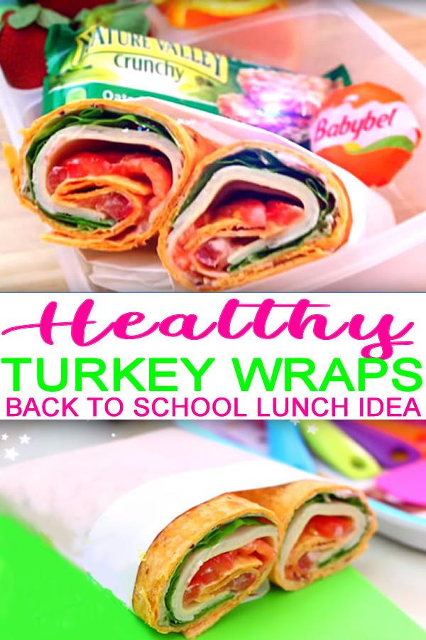 Easy Healthy School Lunch Ideas For Kids & Teens_DIY Healthy Turkey Wrap Recipe
