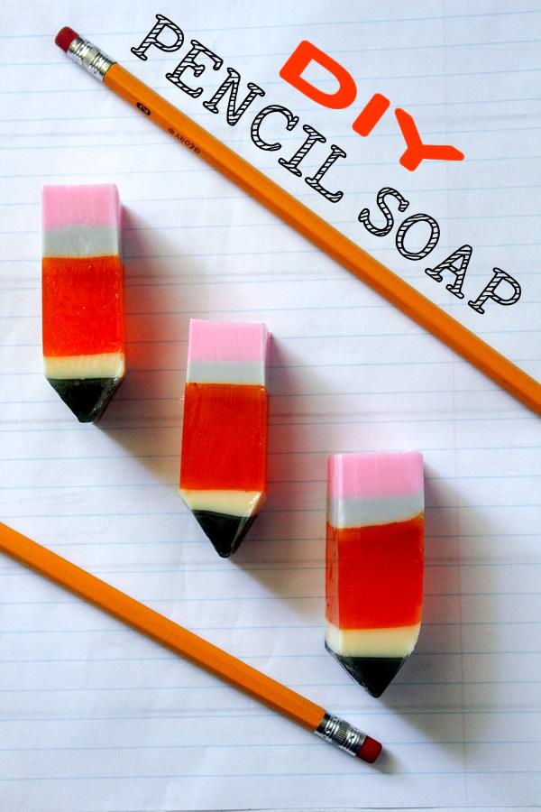 DIY PENCIL SOAP _ melt and pour glycerin soap recipes