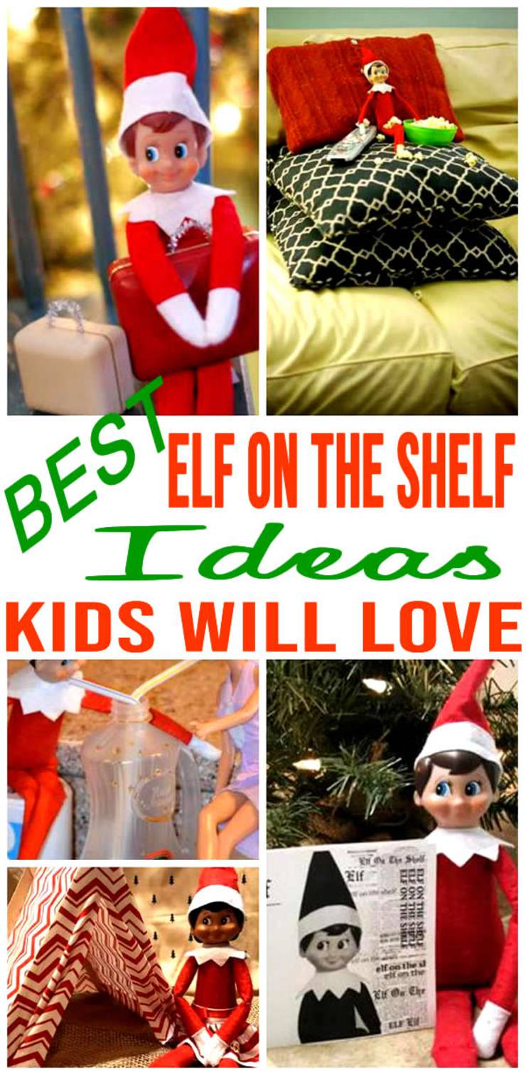 BEST Elf On The Shelf Ideas! Ideas For Kids That Are Easy - Funny - Awesome - Creative - Arrival Ideas Too!