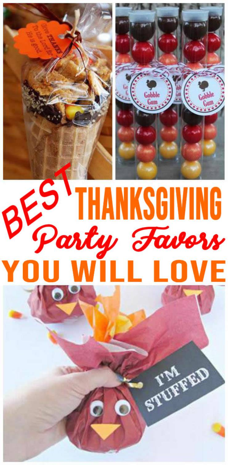 Thanksgiving Party Favors! Easy DIY Thanksgiving Party Favor Ideas For Kids & For Adults - BEST Goodie Bags & More Fun Ideas - Fall Party Favors