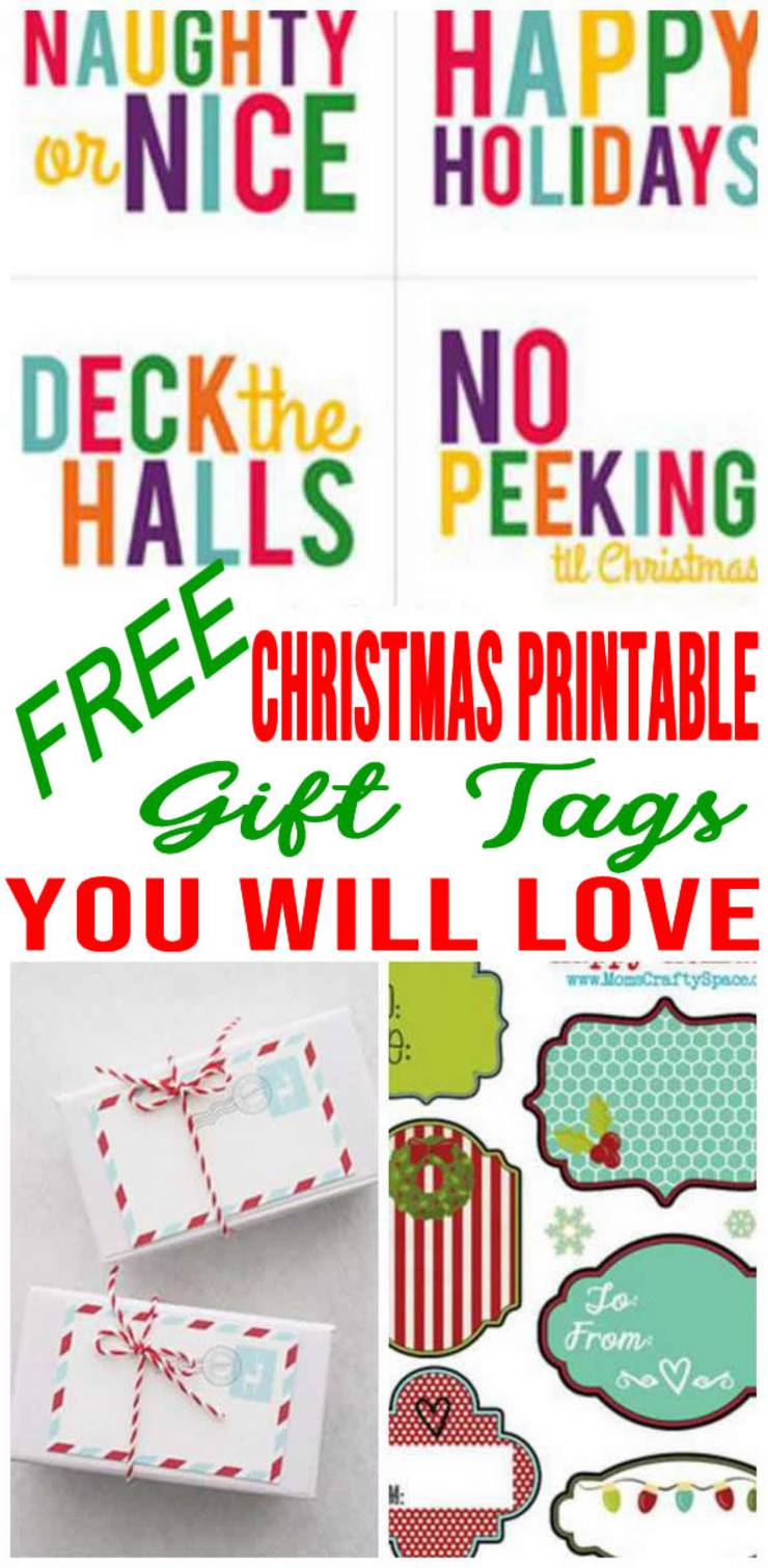 Free Printable Christmas Gift Tags To Add Sparkle To Your Gifts