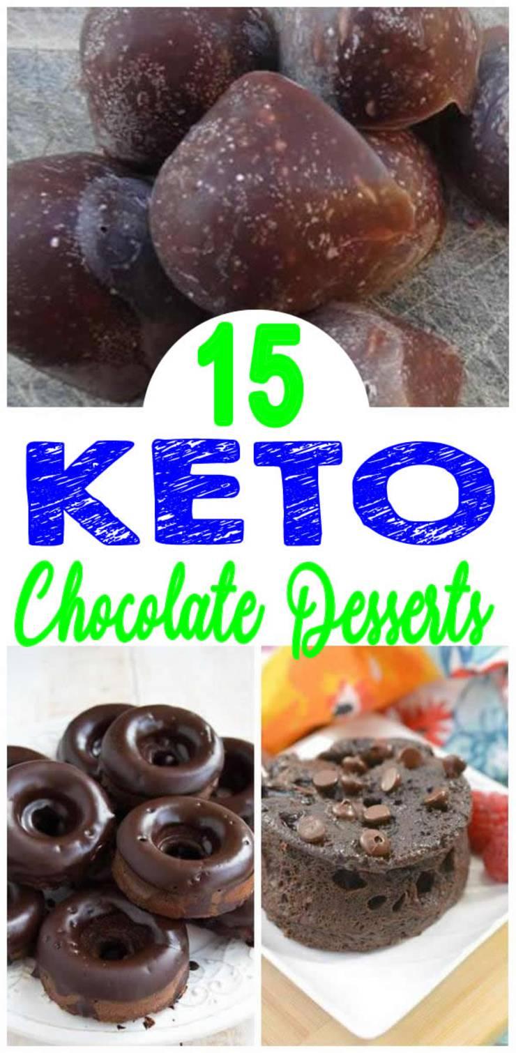 Keto Chocolate Desserts - BEST Low Carb Chocolate Dessert Recipes – Easy Ketogenic Diet Ideas
