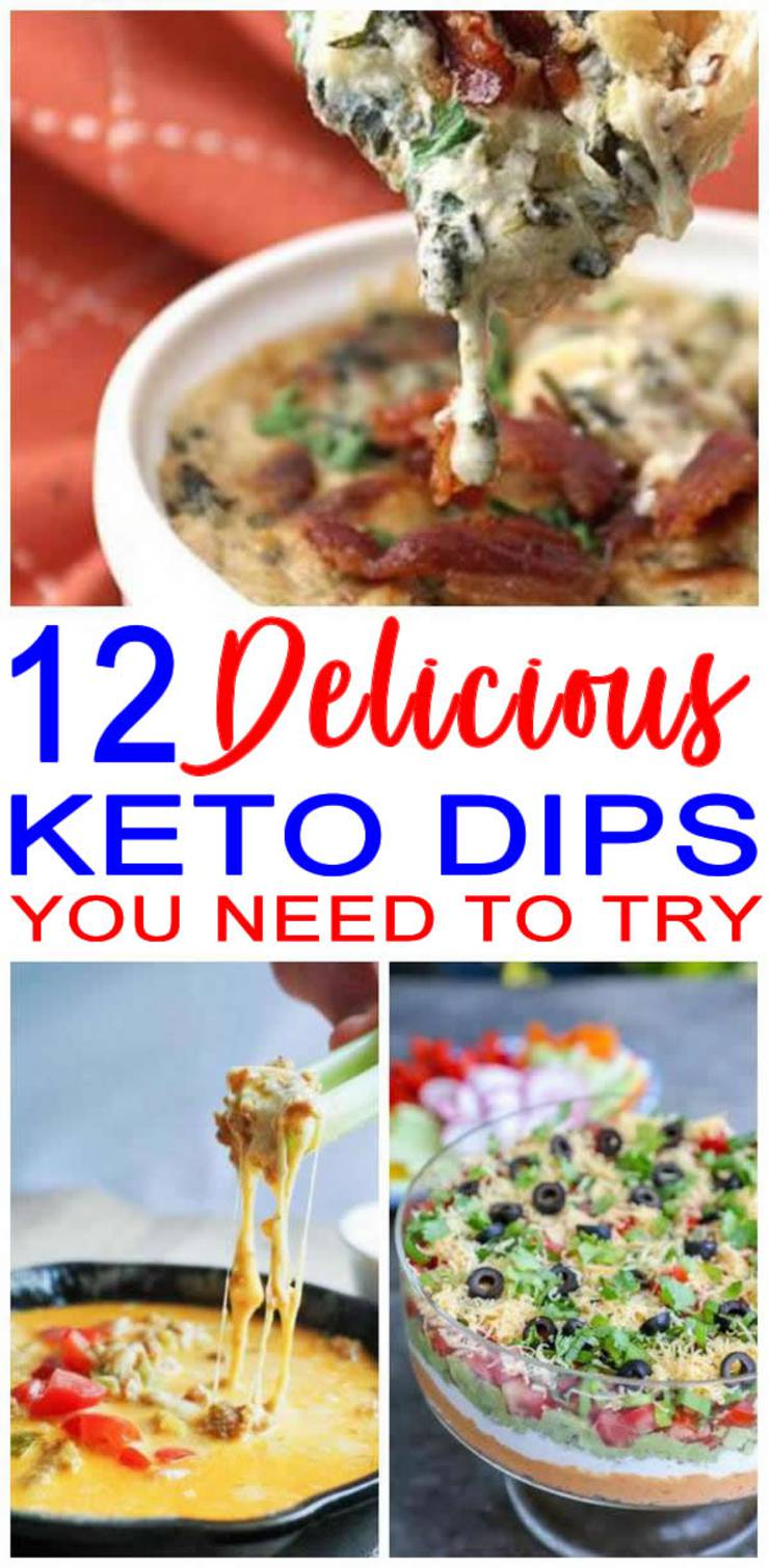 Keto Dips- Easy Low Carb Ideas - BEST Keto Dips For Appetizers - Parties - Potluck - Simple & Quick Ketogenic Diet Recipes