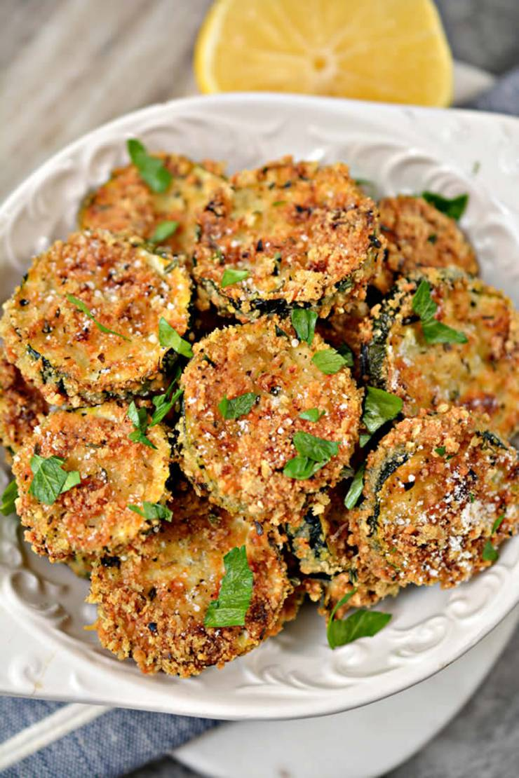 Keto Zucchini Bites_Low Carb Zucchini Bites With Parmesan Cheese_Keto Chips_Round Fries Zucchini Recipe_Easy