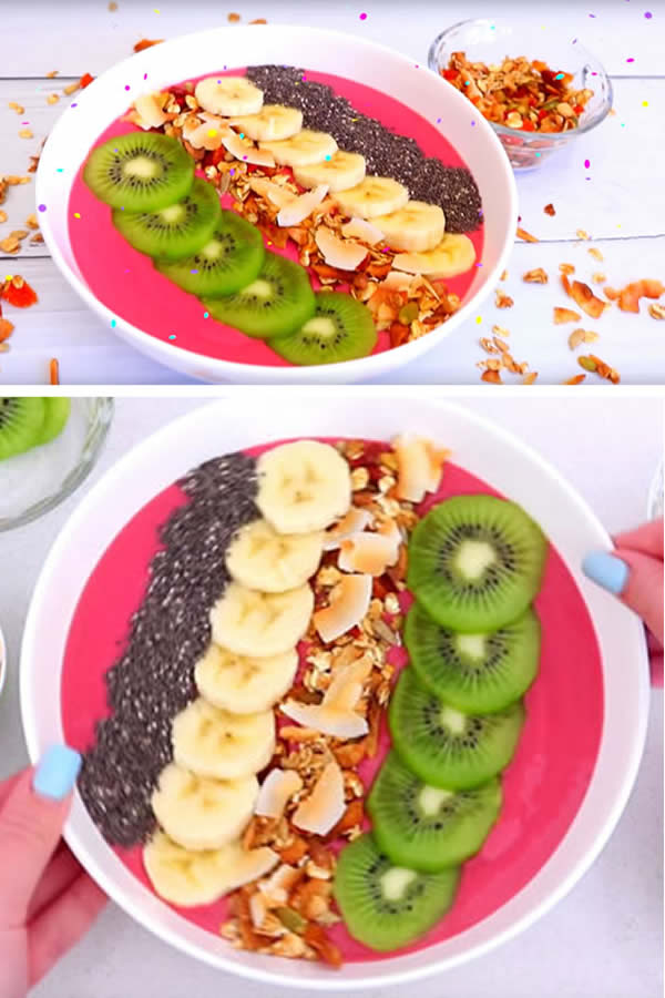 HEALTHY Smoothie Bowl_Easy_Simple Homemade Smoothie Bowl Recipe_Yummy Breakfast Ideas For Kids_Teens_Tweens_Adults-2