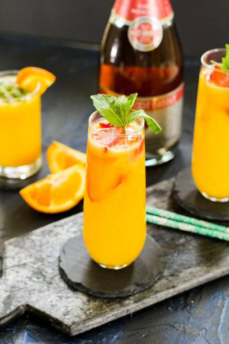 Alcoholic Drinks - BEST Mimosa Recipe - Easy and Simple Strawberry Orange Champagne Mimosa Cocktail Idea