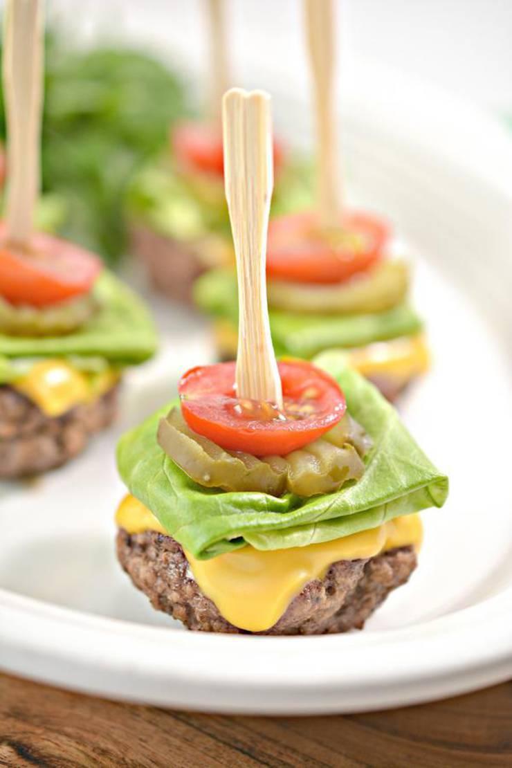 Keto Mini Burger Bites – EASY Low Carb Keto Ground Beef Burger Bites Recipe – BEST Dinner – Lunch – Snack - Appetizer Idea