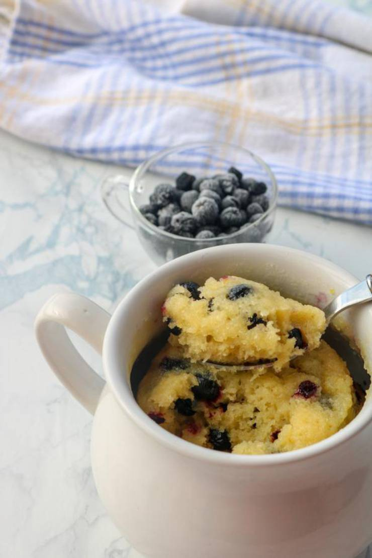 Weight Watchers Mug Cakes – BEST WW Recipe – Microwave Lemon Blueberry Mug Cake – Treat – Dessert – Snack with Smart Points