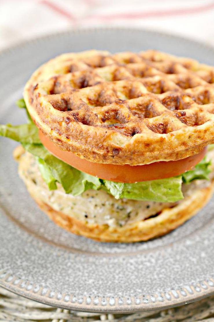 BEST Keto Chaffles! Low Carb Chaffle Idea – Homemade – Quick & Easy Ketogenic Diet Recipe – Completely Keto Friendly – Sandwich Italian Garlic And Herb Chaffle