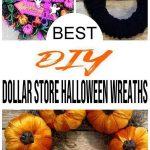 BEST Dollar Store Halloween Wreath! DIY Fall Wreath Ideas – Learn How To Make Wreaths To Make Your Front Door Look Amazing – Dollar Store Hacks – Homemade Halloween Decor