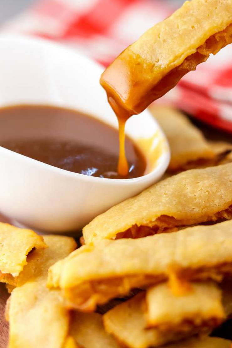 Keto Apple Pie Fries With Caramel Sauce – BEST Low Carb Recipe – Breakfast – Treat – Desserts – Snack For Ketogenic Diet – Gluten Free – Sugar Free