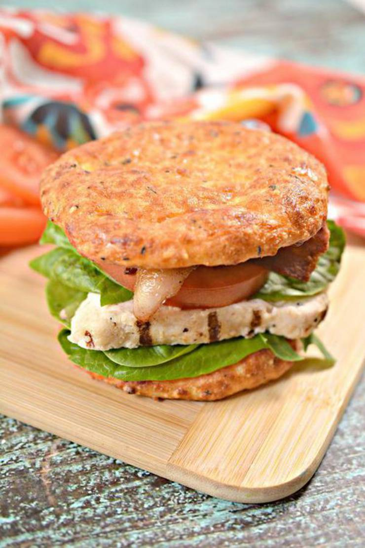 Keto Buns And Grilled Chicken Blt