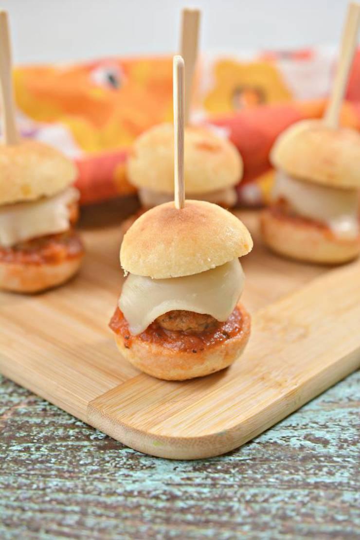 BEST Keto Meatballs – EASY Low Carb Keto Meatball Sliders Recipe – Tasty Keto Appetizers – Dinner – Party Finger Foods