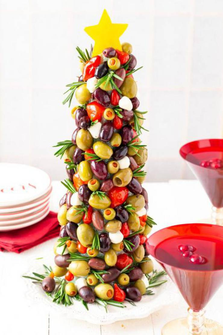 Olive Christmas Tree Appetizer