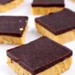 4 Ingredient Keto Peanut Butter Chocolate Bars – Best NO BAKE Low Carb Recipe – Desserts – Treats – Snacks - Ketogenic Diet