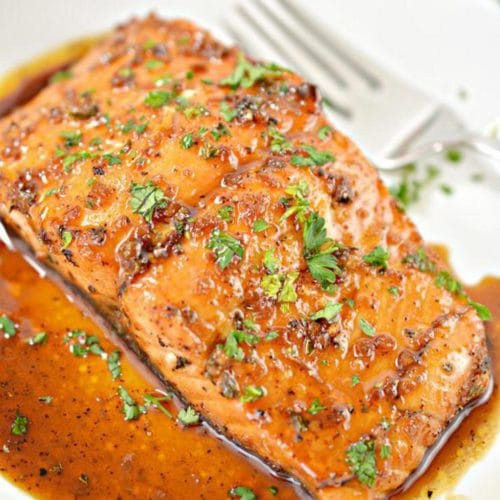 Keto Salmon – BEST Low Carb Honey Garlic Salmon Recipe {Easy – Homemade} Gluten Free Baked Fish