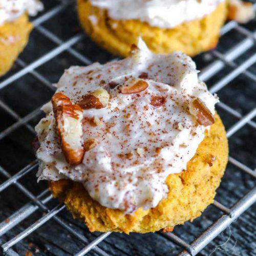 Keto Pumpkin Cookies – Best Low Carb Pumpkin Recipe – Pumpkin Cookies With Cream Cheese Frosting Gluten Free