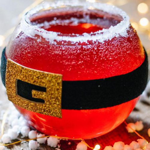 Alcoholic Drinks – BEST Santa Christmas Margarita Recipe – Easy and Simple On The Rocks Alcohol Drinks