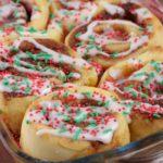 Easy Christmas Cinnamon Rolls - Christmas Morning Breakfast - Quick - Simple Christmas Cinnamon Roll Recipe