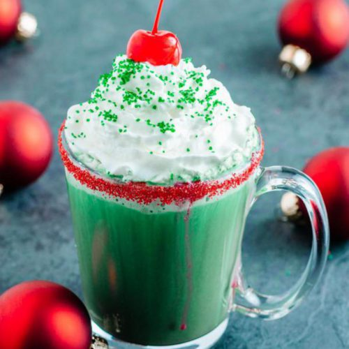Hot Chocolate Drinks – BEST Grinch Hot Chocolate Recipe – Easy and Simple Holiday Drink Idea