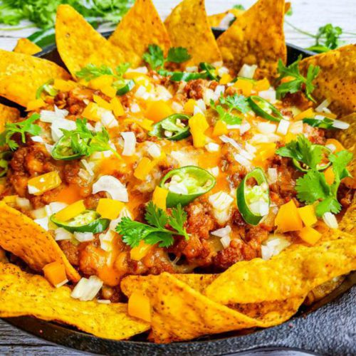 Easy Beef Nachos – Best Homemade Nacho Recipe – Finger Food – Appetizers – Snacks – Party Food – Quick – Simple