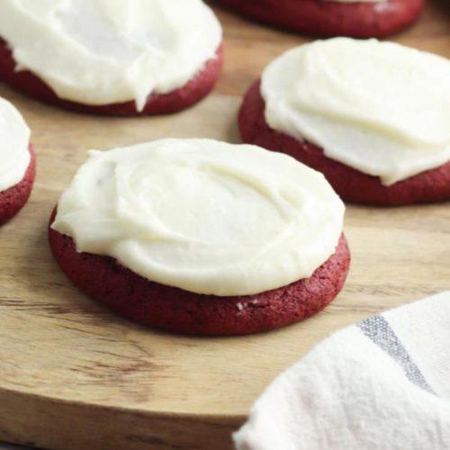 Red Velvet Cookies – BEST Cookie Recipe – {Easy} Homemade Red Velvet Cookie Idea – Party Food – Desserts – Snacks