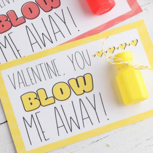 BEST Valentines For Kids – Free Printable Valentine – EASY DIY Bubble Valentines For School – Classroom – Non Candy Valentines