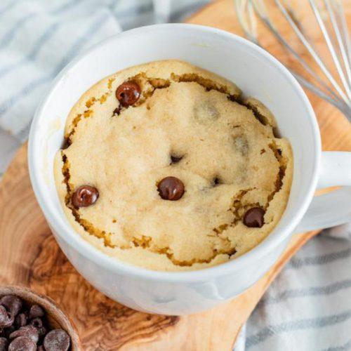 Microwave Mug Cake Recipe – Easy Microwave Peanut Butter Chocolate Chip Mug Cake For One – Simple Baking