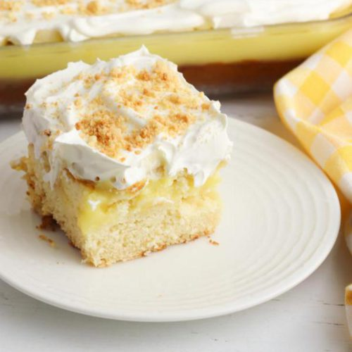 Banana Pudding Poke Cake! BEST Poke Cake Recipe – EASY Baking Food Ideas – Kids Party Food – Snacks – Desserts