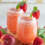 Alcoholic Drinks – BEST Strawberry Peach Slushie Cocktail Recipe – Easy and Simple Wine Cocktail Alcohol Drinks