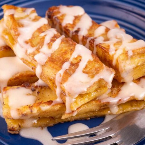 BEST Keto Cinnamon Roll French Toast Sticks – Low Carb Keto French Toast Recipe – 90 Second Microwave Bread For Easy Ketogenic Diet French Toast